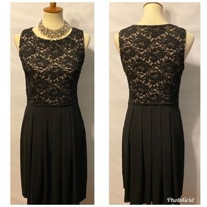 EnFocus Black Embroidered Lace Party Dress Size 8